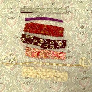Assorted headbands (7 total)